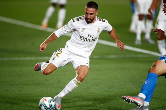 Fútbol.- Carvajal sufre una lesión en la rodilla derecha y estará dos meses de b