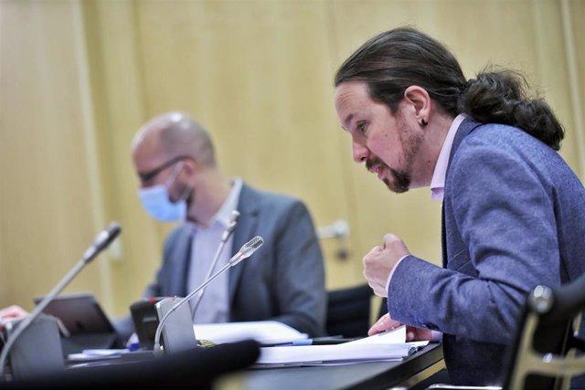 Pablo Iglesias e Ignacio Álvarez presentan el Plan de Choque en Dependencia
