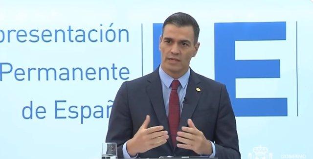 Rueda de prensa del presidente del Gobierno, Pedro Sánchez, tras el Consejo Europeo extraordinario