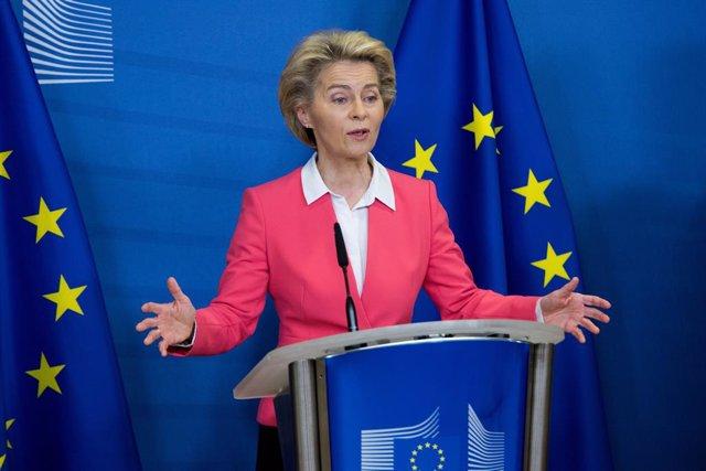 """Brexit.- Von der Leyen: La UE sigue negociando para un acuerdo con Reino Unido """""""