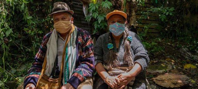 Imagen de archivo de indígenas en Colombia en medio de la pandemia de COVID-19