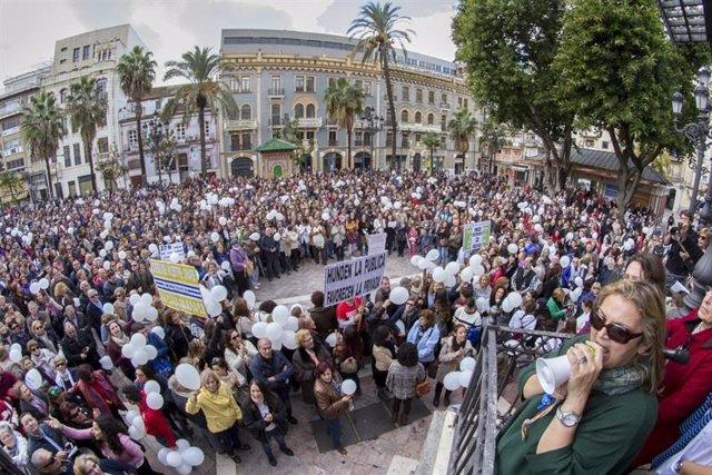 Manifestación por la sanidad en Huelva en una imagen de archivo.