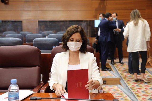 La presidenta de la Comunidad de Madrid, Isabel Díaz Ayuso,.