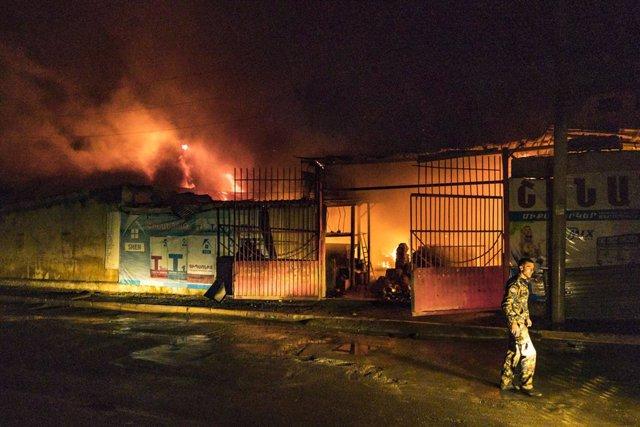 Armenia/Azerbaiyán.- Nagorno Karabaj denuncia otro bombardeo azerí contra la cap