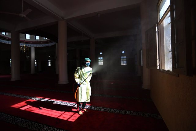 Coronavirus en una mezquita