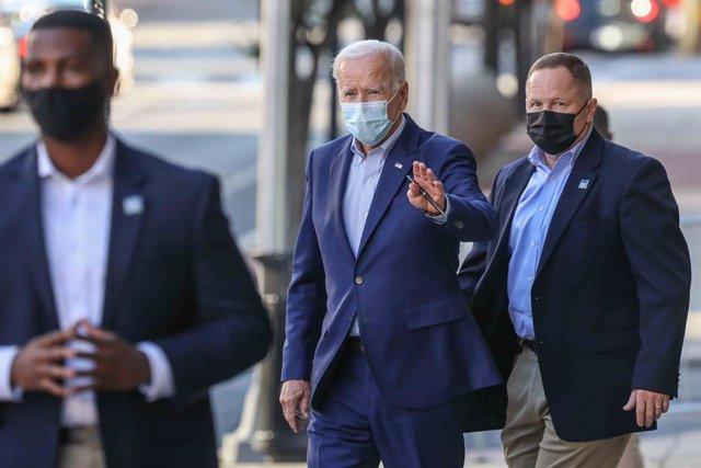 EEUU.- Biden sacaba un récord de 14 puntos de ventaja a Trump antes de la hospit
