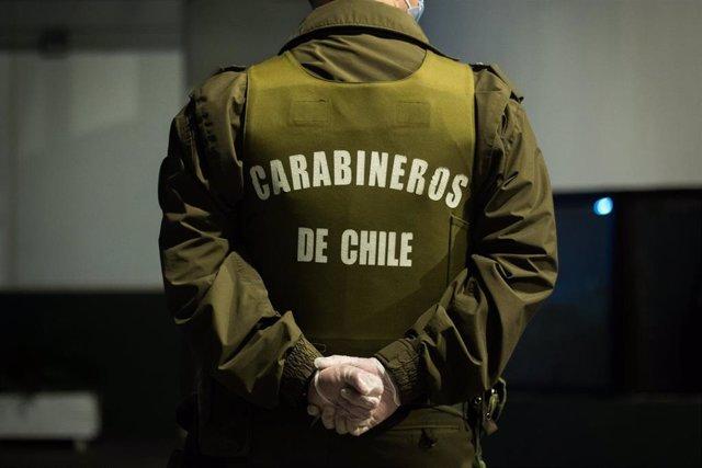 Imagen de un agente de Carabineros en Chile.