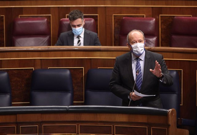 El ministre de Justícia, Juan Carlos Campo, en una sessió de control al Congrés dels Diputats. Madrid, (Espanya), 30 de setembre del 2020.