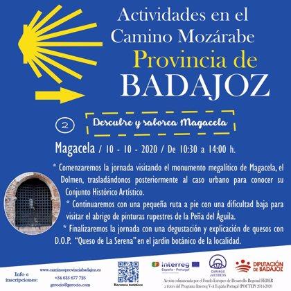 El proyecto 'Caminos Jacobeos del Oeste Peninsular' llegará el 10 de octubre a Magacela tras pasar por Campanario