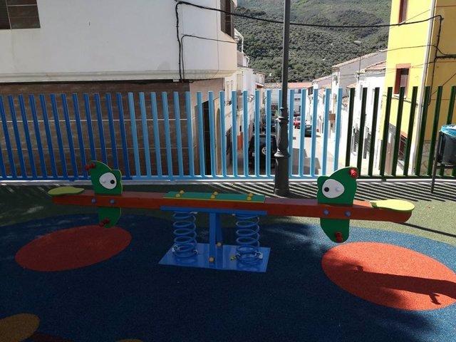 Imagen de archivo de un parque infantil en Valdepeñas de Jaén.