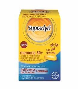 Bayer lanza Supradyn Memoria 50+, un multivitamínico con polifenoles de la oliva para ayudar a la memoria.