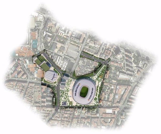 Fútbol.- Las obras del 'Espai Barça', con un Palau mayor, suben a 725 millones