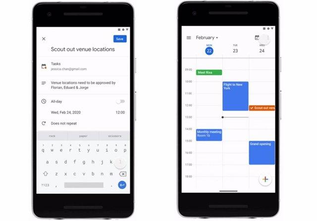 El Calendario de Google ya permite crear tareas desde su 'app' para móviles