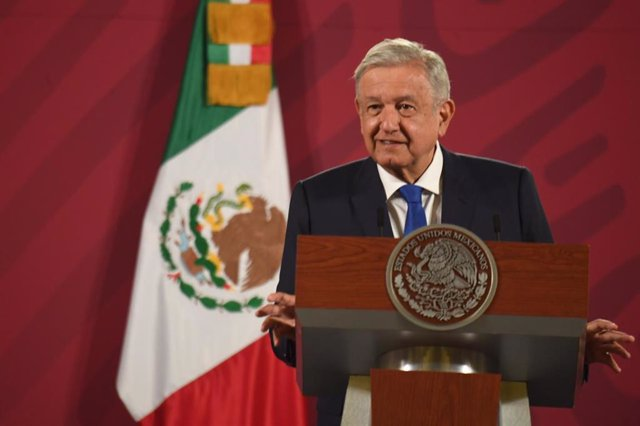 05 October 2020, Mexico, Mexico City: Mexican President Andres Manuel Lopez Obrador speaks during his daily press conference regarding the coronavirus latest updates at the National Palace. Photo: Armando Martanez/LCG via El Universal via ZUMA Wire/dpa