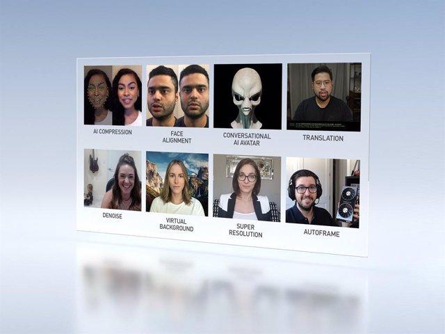 Nvidia mejora las videoconferencias con IA y sus GPU con un nueva plataforma en