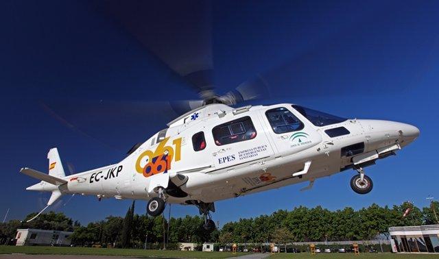 El herido ha sido trasladado en helicóptero