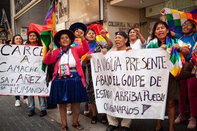 Simpatizantes del expresidente de Bolivia Evo Morales.