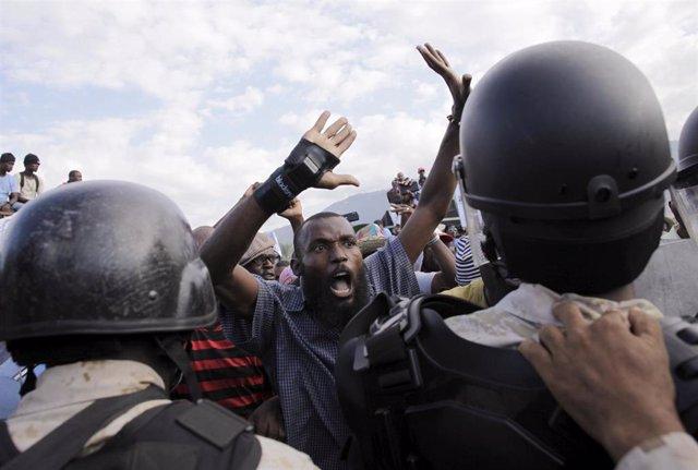 Imagen de archivo de protestas en Haití.