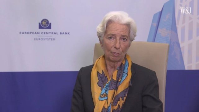 Economía.- Lagarde no prevé una recuperación completa hasta finales de 2022 por
