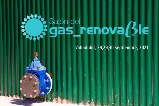 Cartel del I Salón del gas Renovable que se celebrará en Valladolid