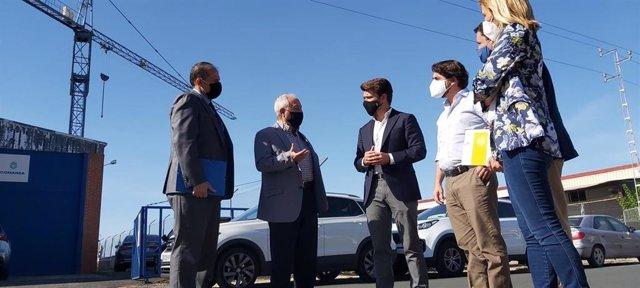 Beltrán Pérez, durante su visita a parques empresariales