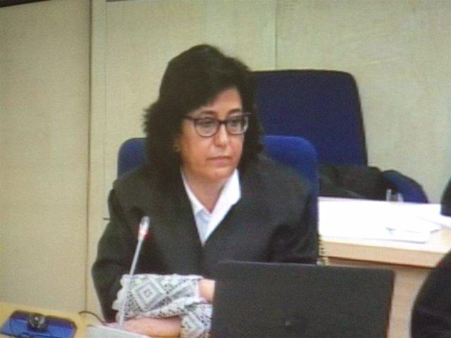 Carmen Launa, fiscal del caso Bankia, en el juicio ante la Audiencia Nacional