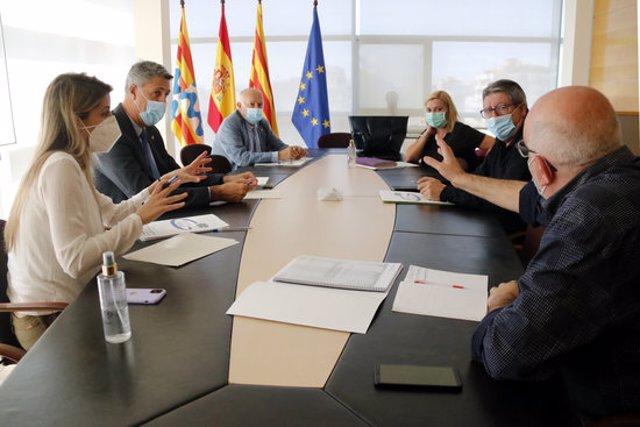 Reunió de la comissió de reconstrucció de Badalona, el 6 d'octubre de 2020 (horitzontal)