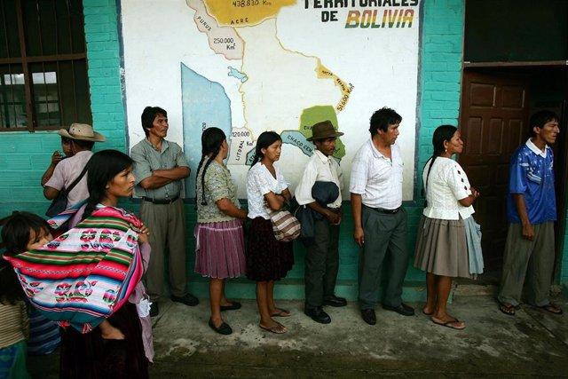 Imagen de archivo de unas elecciones en Bolivia.