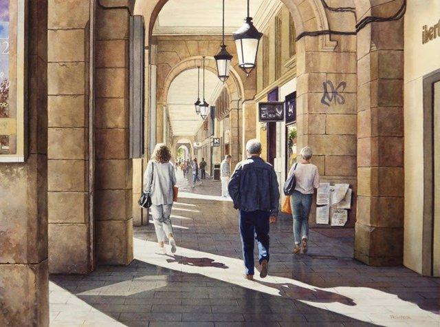 Zaragoza.- La pintora Lana Privitera expone en la Galería del Arte la colección
