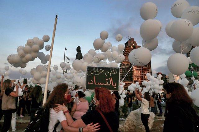 Líbano.- Líbano eleva a más de 200 los muertos por las explosiones del 4 de agos
