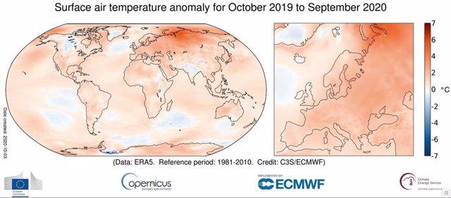 2020 deja el septiembre más cálido en el mundo desde que hay registros