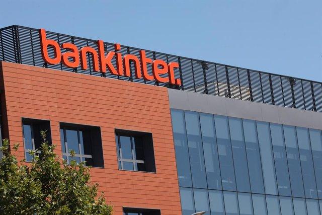 Fachada de la empresa Bankinter ubicada en Madrid, (España)