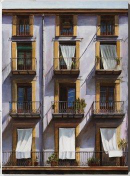 Una de les obres de l'exposició 'Barcelona, la ciutat del silenci' Neus Martín Royo (vertical)