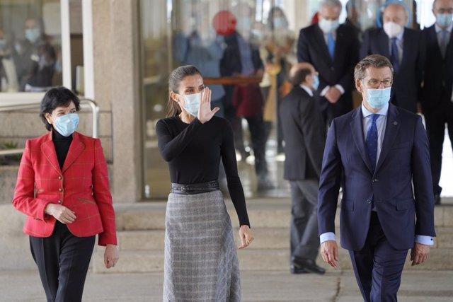 VÍDEO: La reina Letizia inaugura en Santiago el curso de FP y profundiza en la i
