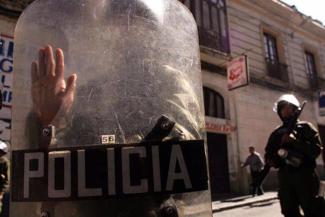 Imagen de archivo de policías bolivianos.
