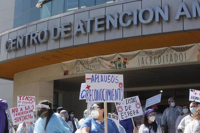 Movilización del personal sanitario chileno en Concepción