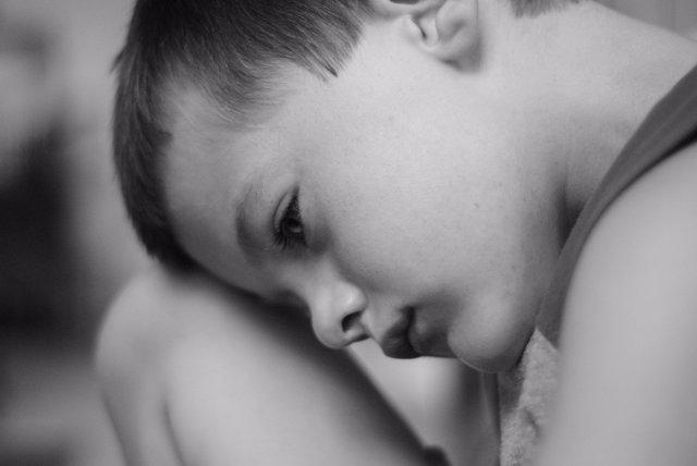 Niño con estrés postraumático