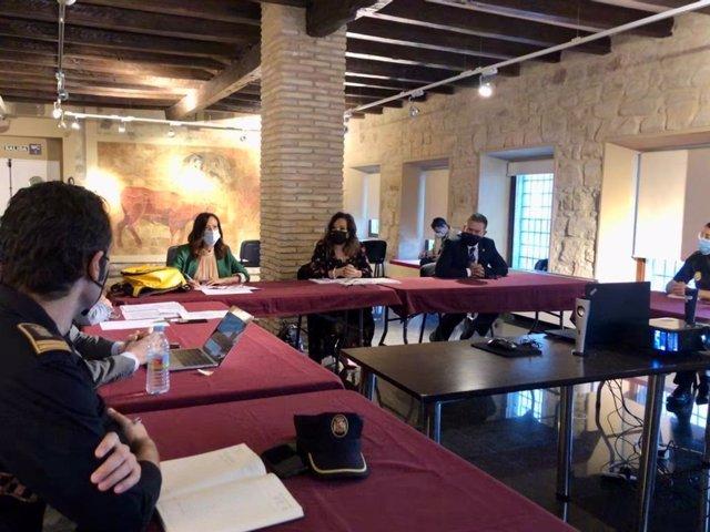 Reunión de la junta local de seguridad de Linares
