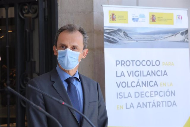 El ministro de Ciencia e Innovación, Pedro Duque, en la sede del Observatorio Astronómico, en Madrid, el pasado 3 de septiembre