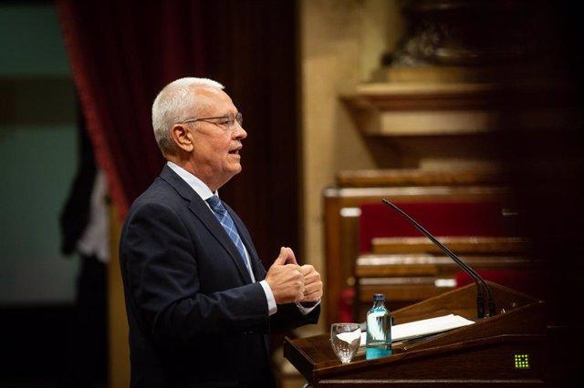 El diputat del PP Santiago Rodríguez, al Parlament. Barcelona, Catalunya, (Espanya), 6 d'octubre del 2020.