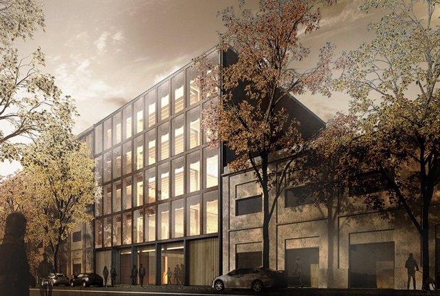 Edificio de oficinas de madera que Colonial construirá en Barcelona