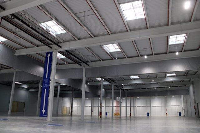 Pla general de l'interior de la nova nau per a usos logístics que GLP comercialitza al polígon industrial de Valls. Imatge del 7 d'octubre del 2020. (Horitzontal)