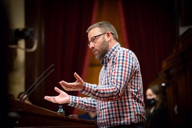 El diputat de la CUP Vidal Aragonés al Parlament.