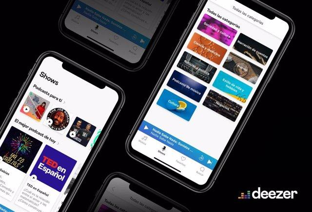 Deezer añade los 'podcast' en España, con 16 categorías de programas en castella