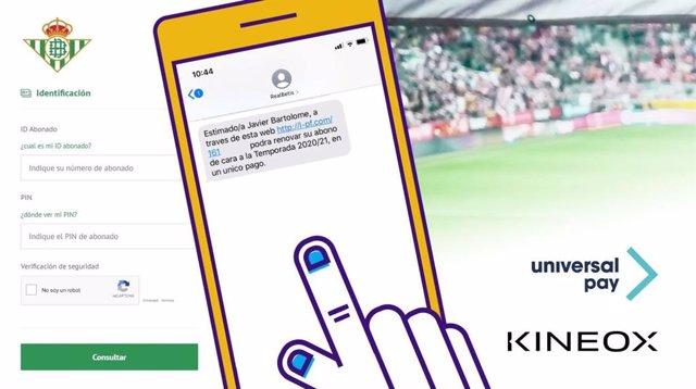 Solución de pago digital de abonos del Real Betis Balompié por Kíneox-UniversalPay