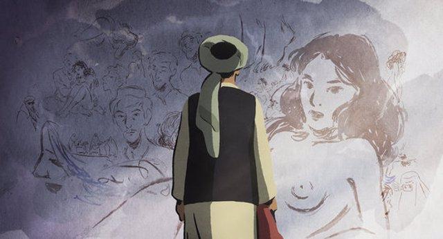 Frame de la pel·lícula 'Las golondrinas de Kabul'. (Horitzontal)