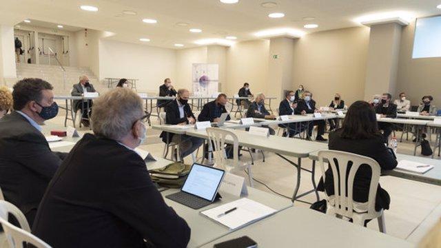Pla obert de la reunió del consell general de GlobaLleida, celebrada el 8 d'octubre del 2020. (Horitzontal)