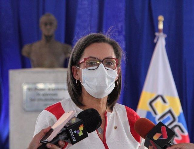 La presidenta del Consejo Nacional Electoral de Venezuela (CNE), Indira Alfonzo