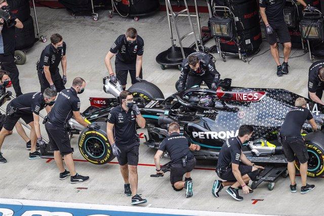 Fórmula 1.- Mercedes confirma un positivo por coronavirus en su equipo