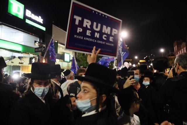 Coronavirus.- Protestas ultraortodoxas en Nueva York tras las recientes restricc